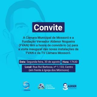 TV Câmara Mossoró - convite para apresentação de instalações 30-08-21
