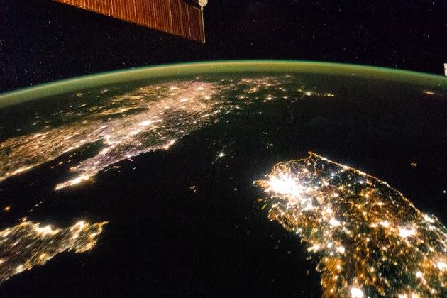Terra, satélite, vista aérea, planeta, espaço