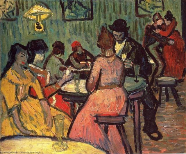 """Reprodução do quadro """"O bordel"""", de Vincent Van Gogh"""