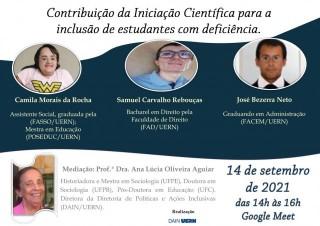 Contribuição da Iniciação Científica para a inclusão de discentes com deficiência- José Barbosa Neto, Barbosa