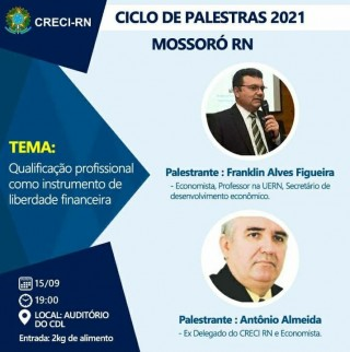 Creci - Ciclo de palestras - Frankin Filgueira - 15-09-21
