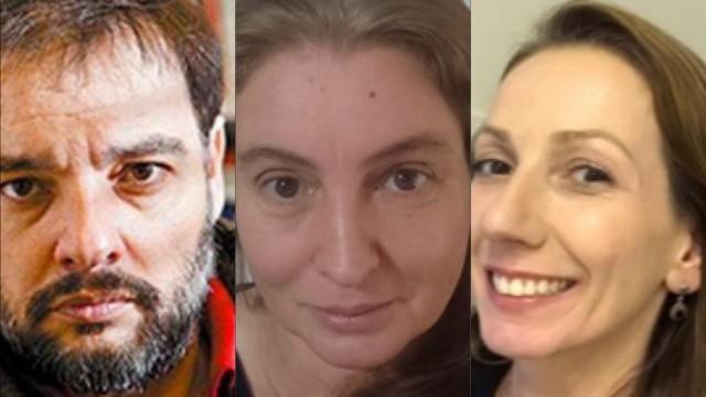 Martín, Lia e Janine, trabalhos relevantes e reconhecidos internacionalmente (Fotomontagem: UFRN)