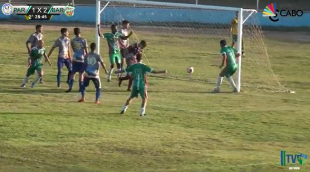 Maikson fez o terceiro gol do Baraúnas, cabeceando sem marcação (Reprodução BCS)
